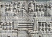 The base of the Obelisk of Theodosius in Istanbul Turkey — Stock Photo
