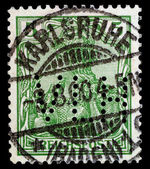 Isolated German Postage Stamp (Editorial) — Stock Photo