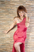Redhair beuty fashion e glamour poses — Stock Photo