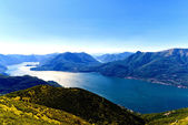 Como lake view from mountain — Stock Photo