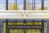 Comitee internationalle olympique lausanne suisse — Stock Photo