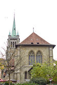 Church of sant francis losanne swiss — Stockfoto