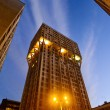 Velasca tower skyscraper milan italy by night — Stock Photo