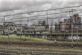 Milan italy railways — Stock Photo
