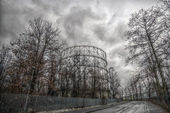 Milan italy old gas structure building — Stock Photo