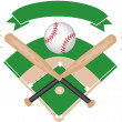 Baseball banner - Stock Vector