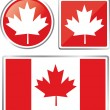 Canada flag - Stock Vector