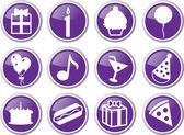 Birthday icon set — Stock Vector