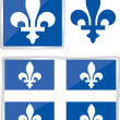 Quebec emblem — Stock Vector