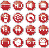 Cinema icon set — Stock Vector