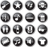 Rock show icon — Stock Vector
