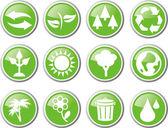 Environment icon set — Stock Vector