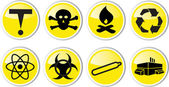 Toxic waste icon et — Stock Vector