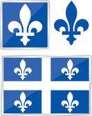 ケベック州の紋章 — ストックベクタ