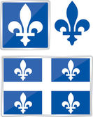 Quebec emblem — Vector de stock