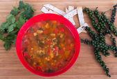 Овощной суп — Стоковое фото