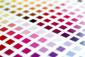 Pantone color chart — Stock Photo