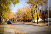 Street at fall — Stock Photo
