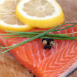 Fresh raw salmon — Foto Stock