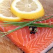 Fresh raw salmon — Stock fotografie