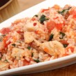 Chicken tomato risotto — Stock Photo