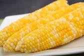 Sweet boiled corn — Stock Photo
