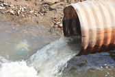 Waste water pipe — Stock Photo