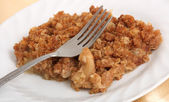 Delicious apple crumble — Stock Photo