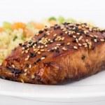 Balsamic and sesame salmon — Stock Photo #23257526