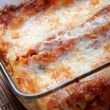 Stock Photo: Baked lasagna
