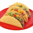 Beef taco on plate - Stock Photo