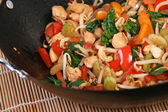 Chicken stir-fry — Stock Photo