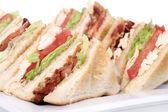 Chicken club sandwich — Stock Photo