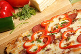 Home made pizza — Stock Photo