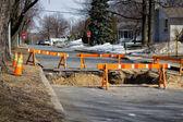 Road construction repair — Stock Photo