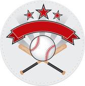 Baseball patch — Stock Vector