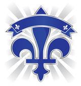 Quebec province emblem — Stock Vector