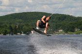Men doing wakeboard — Stock Photo