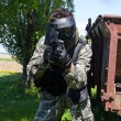 Stock Photo: Mplaying paintball
