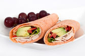 White meat wrap sandwiches — Stock Photo