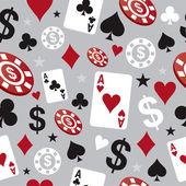 Poker casino seamless pattern — Stock Vector