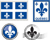 Quebec stamp illustration — Vector de stock