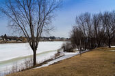 View of Richelieu River at spring — Stock fotografie
