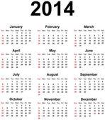 Kalender 2014 — Stockvector