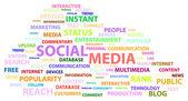 Social Media Words — Stock Vector