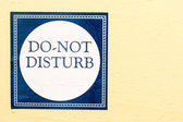 Do Not Disturb — Stockfoto