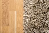 Teppich und parkett — Stockfoto