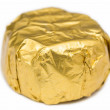 Candy Wrapped In Golden Foil — Stock Photo