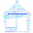 Architecture Words — Stock Vector