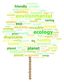 Ecology Words — Stock Vector